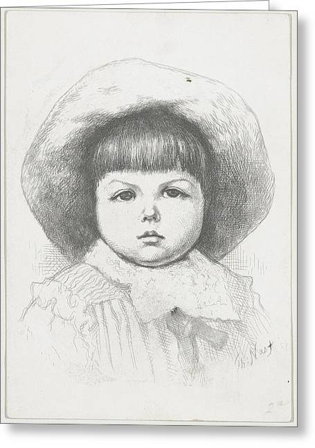 Portrait Of A Child Cyril Nast Greeting Card by Thomas Nast