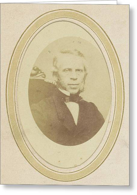 Portrait Of A Man With Sideburns, Anonymous Greeting Card