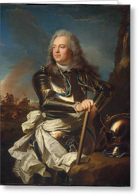 Portrait Of A Military Officer Greeting Card by Hyacinthe Rigaud
