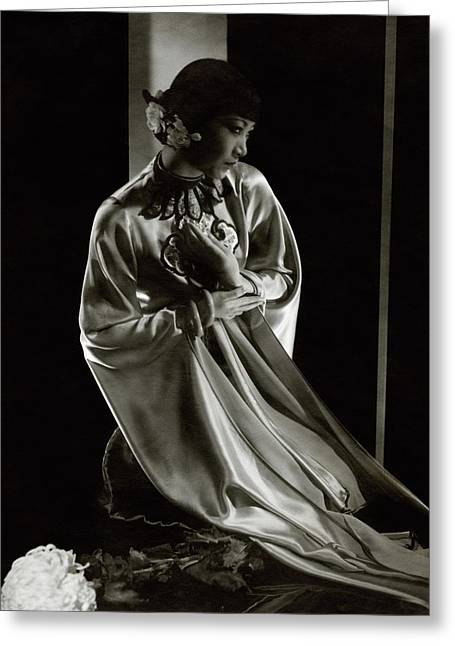 Portrait Of Anna May Wong Greeting Card by Edward Steichen