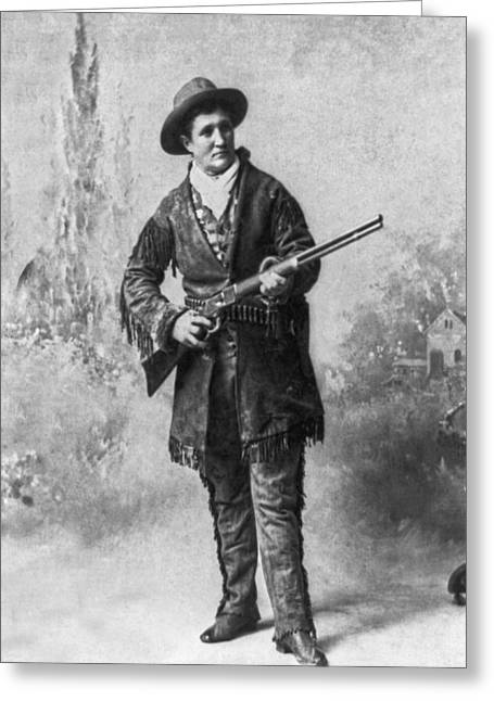 Portrait Of Calamity Jane Greeting Card by Underwood Archives