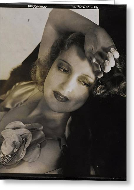 Portrait Of Jeanette Macdonald Greeting Card by Edward Steichen