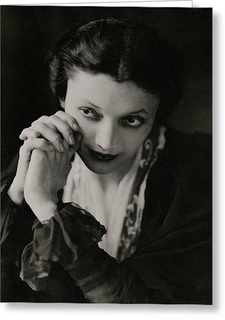 Portrait Of Katharine Cornell Greeting Card by Edward Steichen