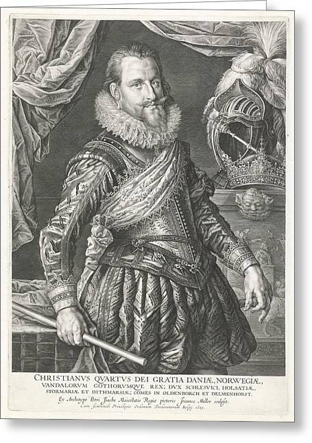 Portrait Of King Christian Iv Of Denmark And Norway Greeting Card