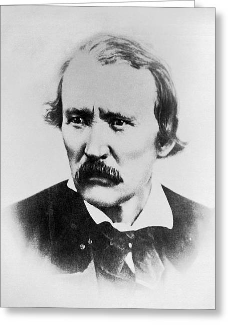 Portrait Of Kit Carson Greeting Card by Underwood Archives
