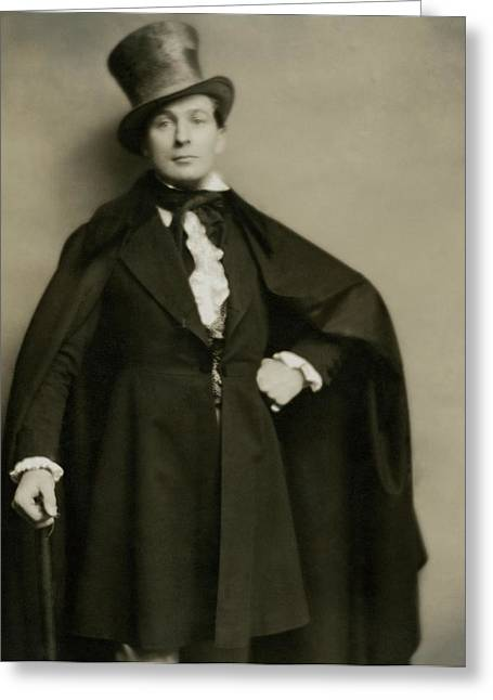 Portrait Of Lionel Atwill In Costume Greeting Card by Nicholas Muray