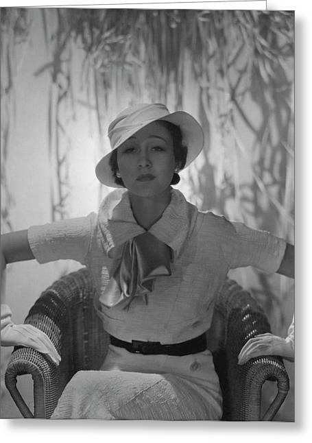 Portrait Of Mlle. Koopman Greeting Card by George Hoyningen-Huen?
