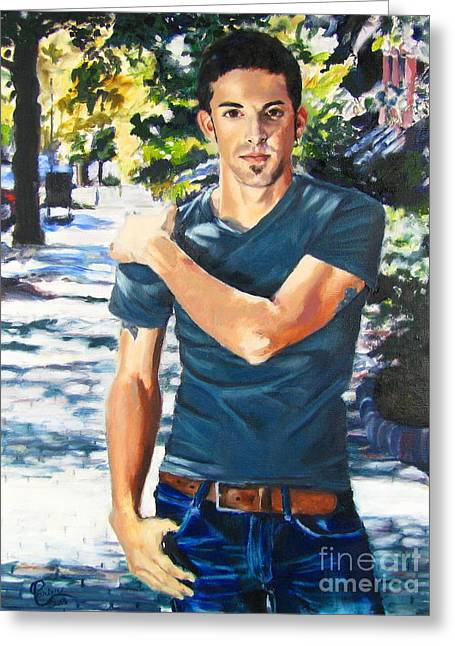 Portrait Of Musician Kyle Jones Greeting Card