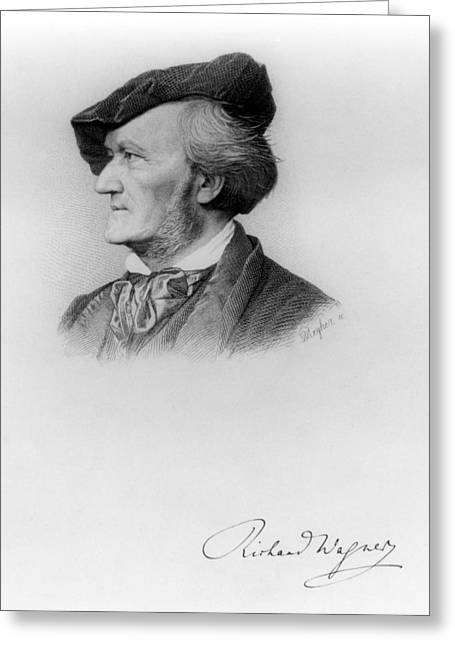 Portrait Of Richard Wagner German Greeting Card