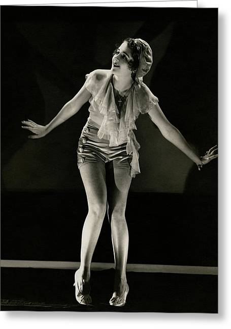Portrait Of Ruby Keeler Greeting Card by Edward Steichen