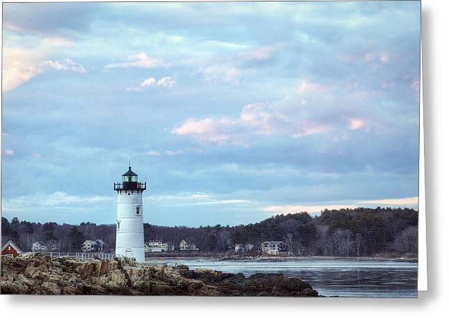 Portsmouth Harbor Light Greeting Card by Eric Gendron