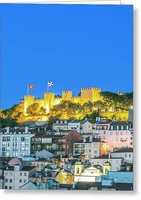 Portugal, Lisbon, Sao Jorge Castle Greeting Card