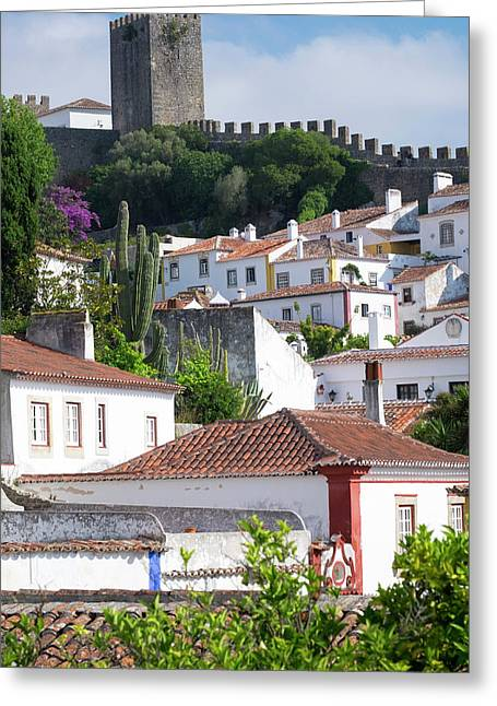 Portugal, Obidos Greeting Card by Emily Wilson