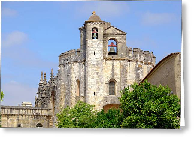 Portugal, Tomar Tomar Castle, Knights Greeting Card by Emily Wilson