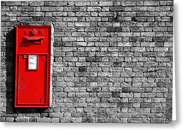 Post Box Greeting Card by Mark Rogan