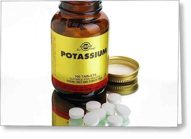 Potassium Tablets Greeting Card