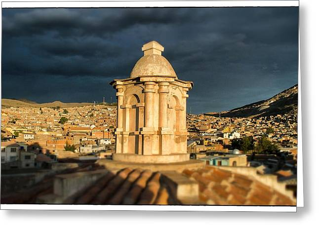 Potosi Church Dome Greeting Card by For Ninety One Days