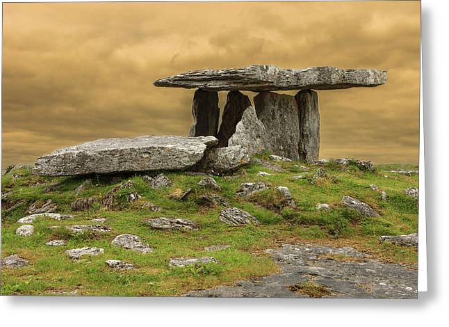 Poulnabrone Dolmen Greeting Card by Tom Norring