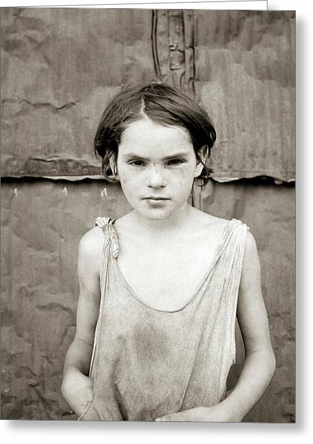 Poverty Girl, 1936 Greeting Card