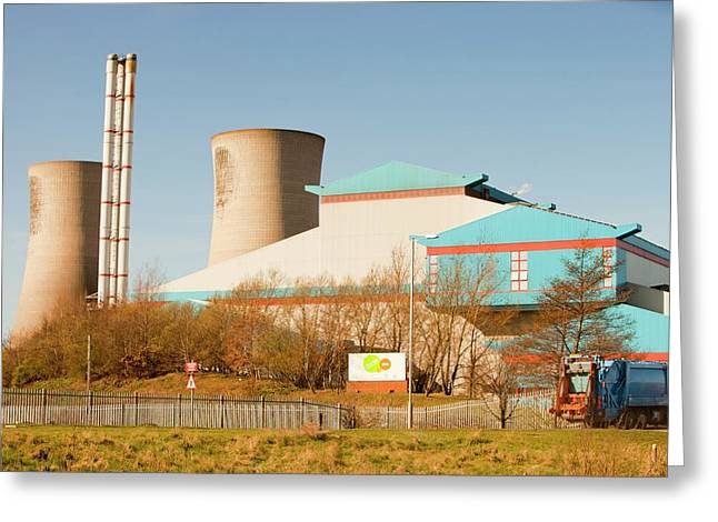 Power From Waste Plant Greeting Card by Ashley Cooper