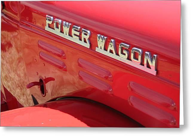 Power Wagon Greeting Card