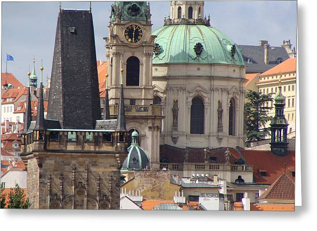 Greeting Card featuring the photograph Prague by Ira Shander