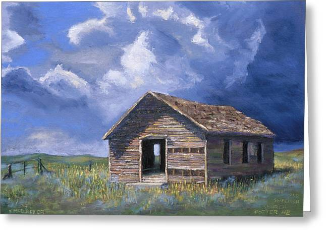 Prairie Church Greeting Card by Jerry McElroy