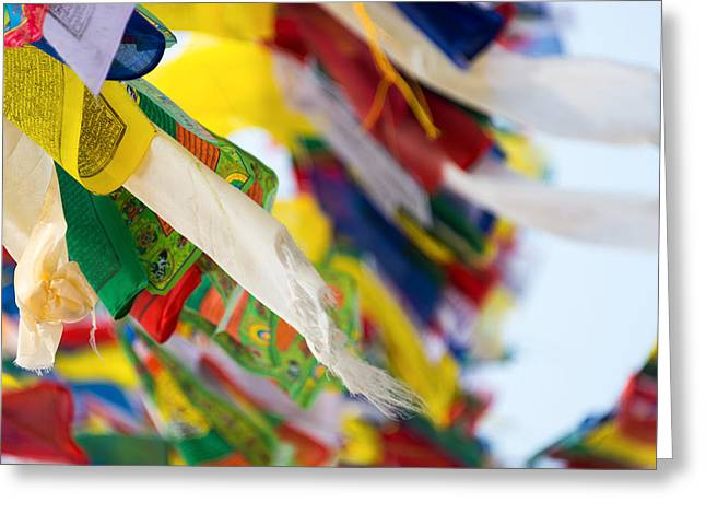 Prayer Flags Greeting Card by Dutourdumonde Photography