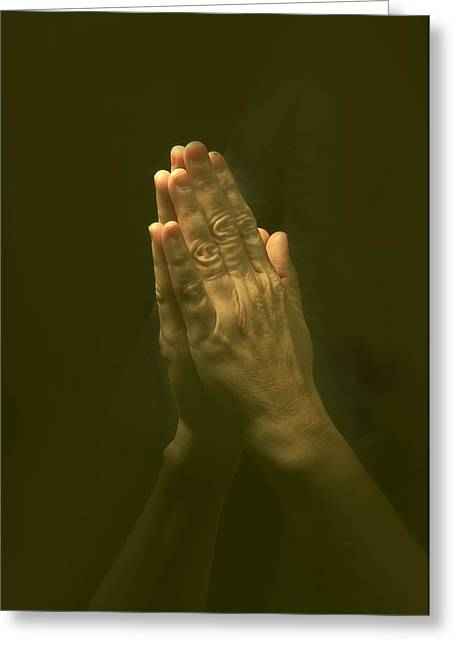 Praying Hands Greeting Card by Bob Pardue