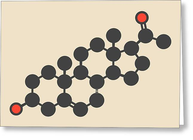 Pregnenolone Hormone Molecule Greeting Card by Molekuul