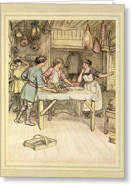 Preparing Food Greeting Card by British Library