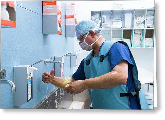 Preparing For Surgery Greeting Card by Mark Thomas