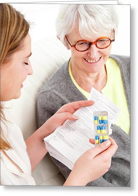 Prescription Medicine Greeting Card by Lea Paterson