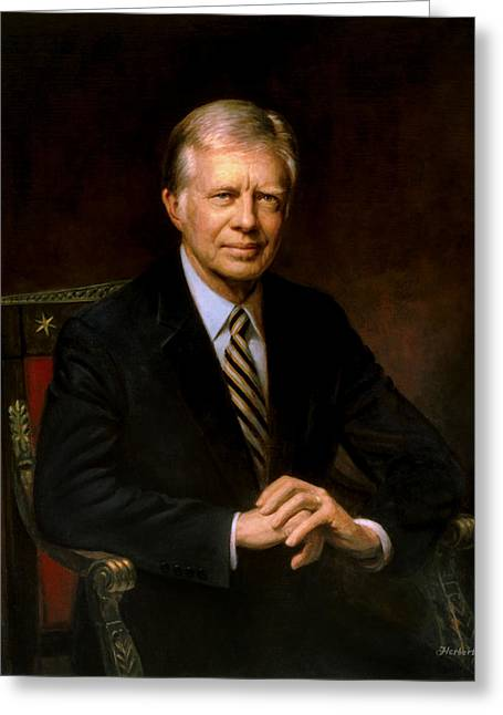 President Jimmy Carter Greeting Card