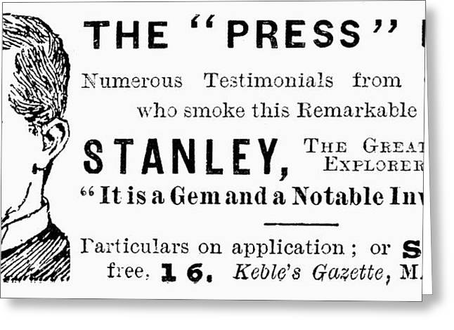 'press' Pipe, 1893 Greeting Card by Granger