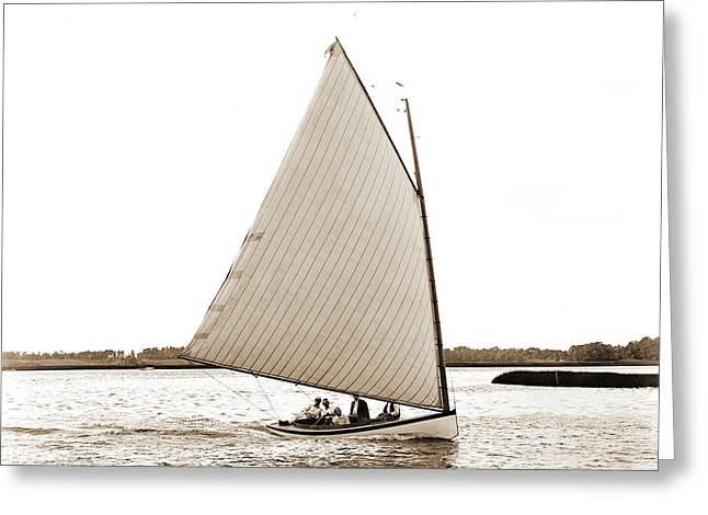 Primrose, Primrose Yacht, Yachts Greeting Card by Litz Collection