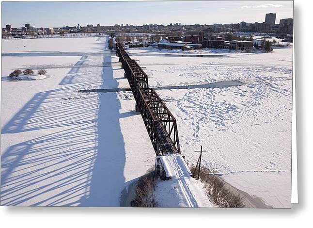 Prince Of Wales Railway Bridge, Ottawa Greeting Card