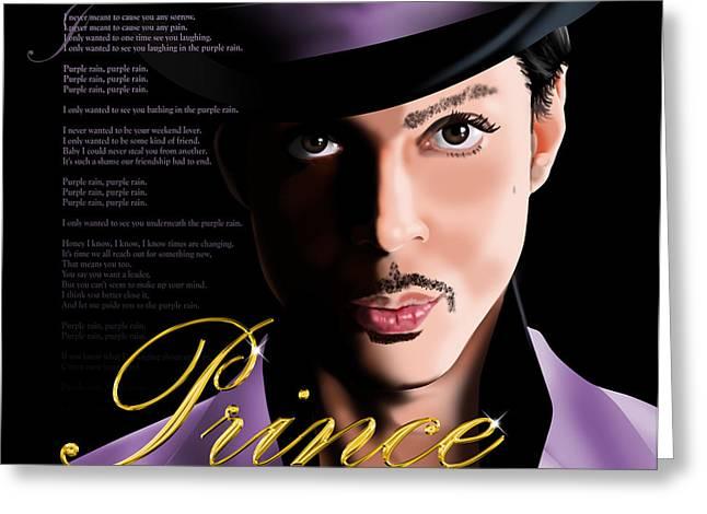Prince Greeting Card by Timothy Ramos