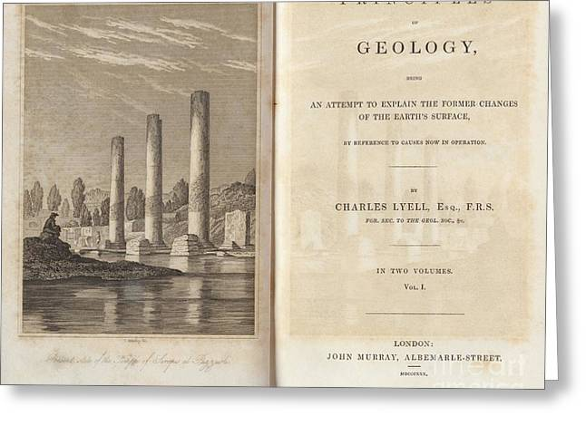 Principles Of Geology 1830 Greeting Card by King's College London