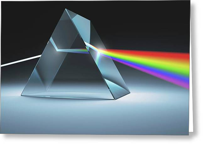 Prism And Rainbow Greeting Card by Ktsdesign