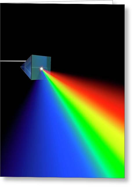 Prism And Spectrum Abstract Greeting Card