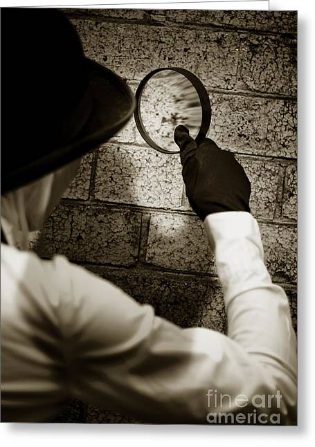 Private Eye Searching For Clues Greeting Card by Jorgo Photography - Wall Art Gallery
