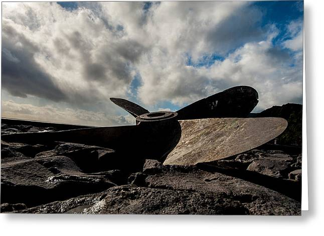 Propeller On The Beach Greeting Card