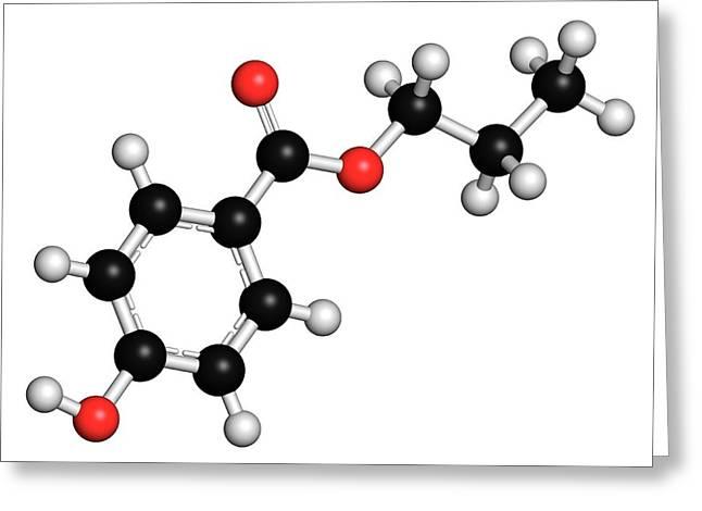 Propyl Paraben Preservative Molecule Greeting Card