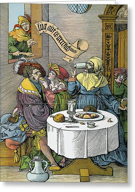 Prostitution, 16th Century Greeting Card by Granger