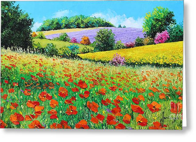 Provencal Flowers Greeting Card by Jean-Marc Janiaczyk