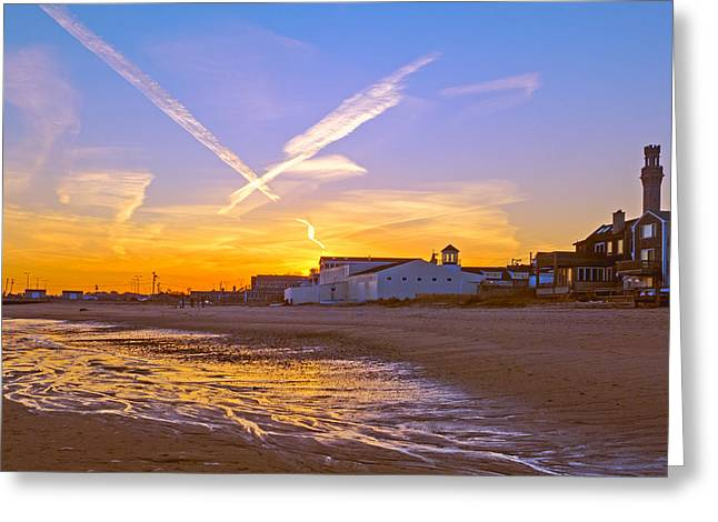 Provincetown Beach At Sunset Greeting Card