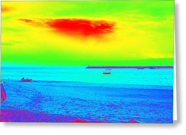 Provincetown Harbor Greeting Card by Mike McCool