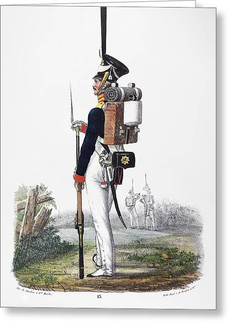Prussian Soldier, 1830 Greeting Card by Granger