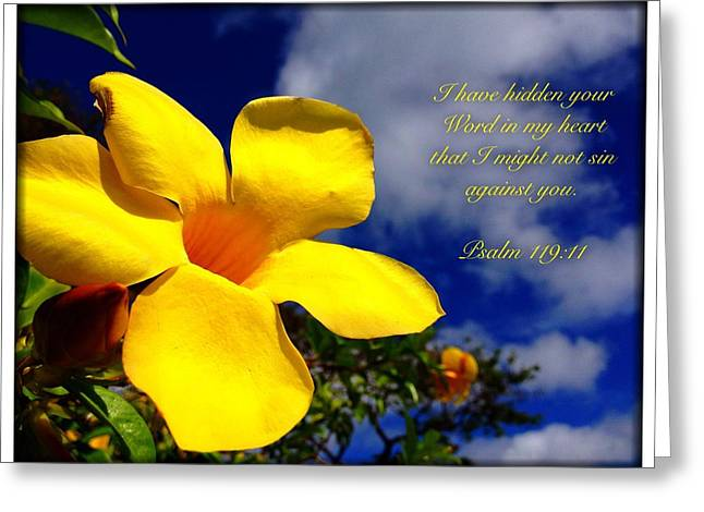 Psalm 119 11 Greeting Card